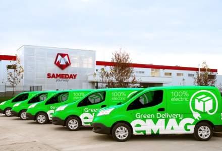 Premiera: eMAG lanseaza livrarea cu automobile 100% electrice