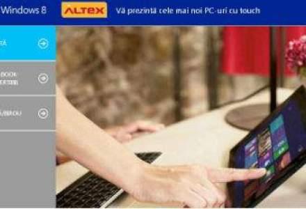 Altex incearca sa vanda mai multe produse cu Windows 8 prin crearea unui spatiu special pe site-ul companiei