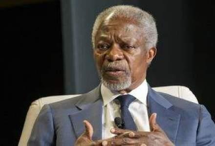 Kofi Annan: Somajul in randul tinerilor, o problema mondiala. Trebuie sa ii pregatim pentru antreprenoriat