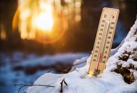 Cea mai scazuta temperatura din acest an, minus 32 de grade Celsius a fost inregistrata pe Varful Iezer