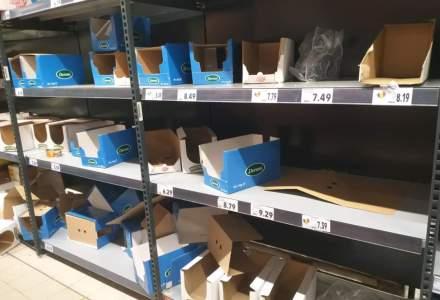 Românii s-au înghesuit să cumpere alimente, speriați de amenințarea coronavirus