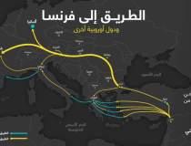 Harta cu traseul imigranților...