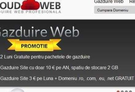 (P) Servicii de gazduire web si servere virtuale cu noile tehnologii ale momentului de tip Cloud de la CloudWeb.ro