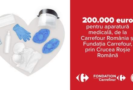Carrefour România donează 200.000 de euro către Crucea Roșie Română, pentru dotarea cu echipamente medicale a spitalelor din țară