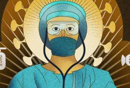 Panouri cu medici reprezentanți ca sfinți au apărut și la Constanța, dar Primăria nu le va da jos cum a făcut Firea în București
