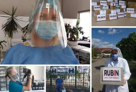 Rubin 2000 a donat spitalelor din România 35.000 de viziere. Prin platforma UNITED, o inițiativă UNTOLD Nation, 6.000 de viziere ajung în Maramureș