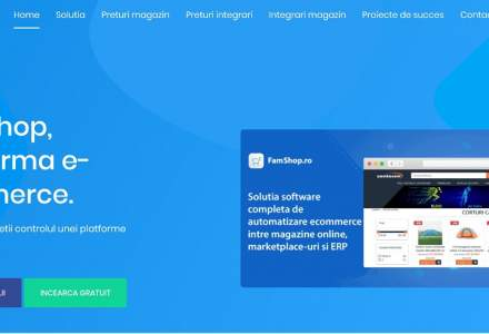 Platforma FamShop a lansat magazinul virtual ca aplicație mobilă