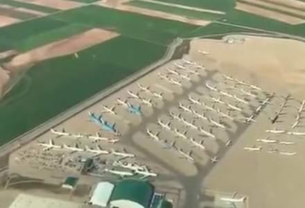 Cea mai mare parcare de avioane din Europa este aproape plină din cauza pandemiei