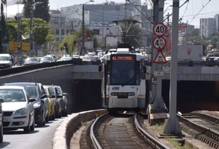 UPDATE Circulaţia tramvaielor 41, reluată în zona Podului Grant