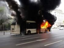 VIDEO Un troleibuz a luat foc...