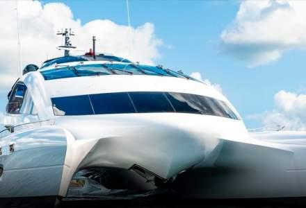 """Cum arată Royal Falcon One, iahtul """"navă spațială"""", proiectat de Porsche"""