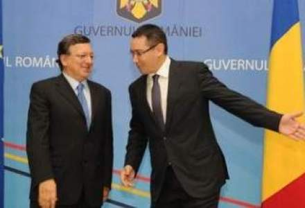 """Tema discutiei Ponta-Barroso: Romania sa obtina """"o cauza de investitii"""" la deficit"""