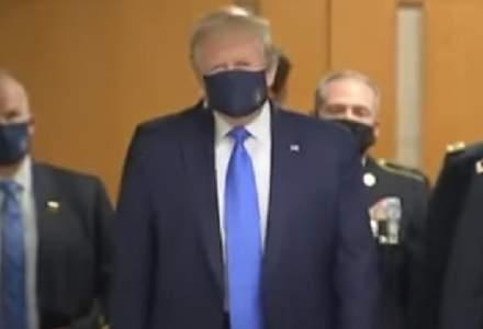 Donald Trump poartă în premieră mască în public, în vizită la militari americani răniţi pe front - VIDEO