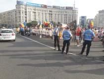 Protest în Piața Victoriei...