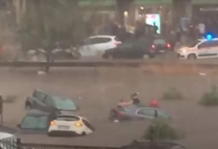 VIDEO Imagini dramatice în Palermo, după cea mai puternică ploaie din istoria oraşului