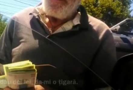 Un cerșetor din Constanța se laudă că face 1.200 de lei pe zi