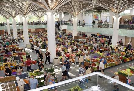 FOTO Cum arată Piaţa Sudului din Bucureşti. AGLOMERAȚIE mare la redeschidere