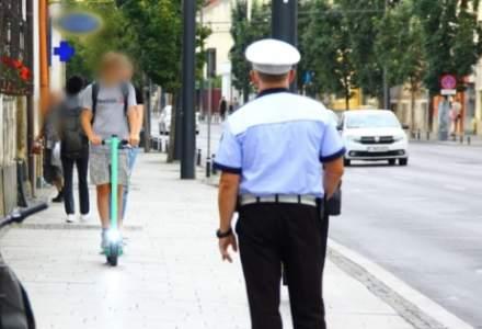 Conducătorii de trotinete, inclusiv Bolt, verificați de Poliție