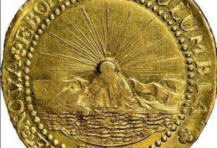Prima moneda de aur din Statele Unite, vanduta la licitatie cu peste 4,5 mil. dolari