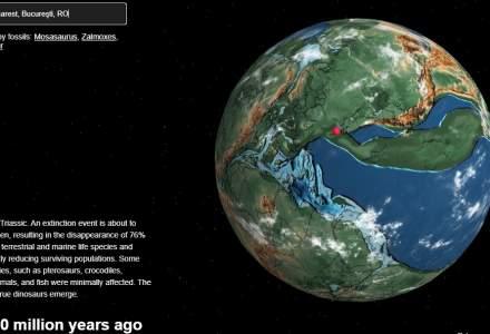Hartă interactivă: Caută-ți orașul și vezi cum arăta Pământul acum sute de milioane de ani!