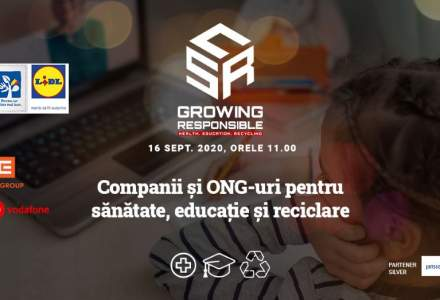 Rolul mediului privat în educație și sănătate. Companii și autorități răspund la conferința online CSR-GROWING RESPONSIBLE