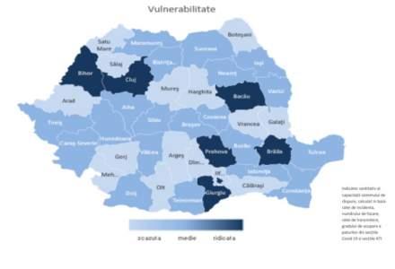 INSP | București și șase județe au vulnerabilitate ridicată legată de epidemia de COVID-19