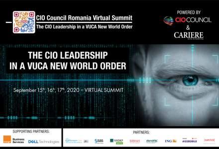"""A 8-a Ediție a Conferinței Naționale a Asociației CIO Council România """"Leadership-ul CIO în noua ordine mondială VUCA"""" va avea loc în perioada 15-17 septembrie 2020"""