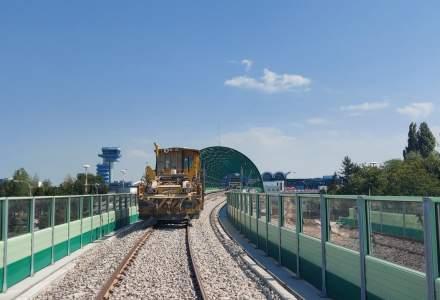 Calea ferată Gara de Nord - Aeroportul Otopeni este gata în proporție de 97%
