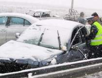 Accident in lant pe A2 cu...