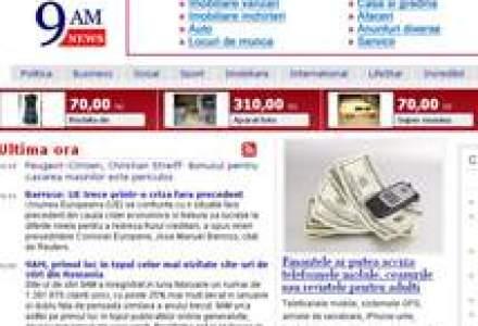9AM, primul loc in topul celor mai vizitate site-uri de stiri din Romania