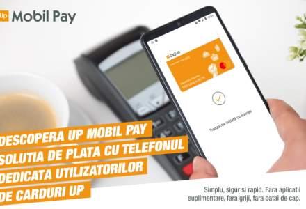 Up România lansează propria soluție de plată contactless cu telefonul, pe Android, denumită Up Mobil Pay