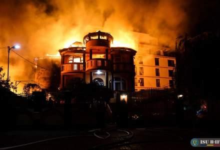 Incendiu de proporții în București