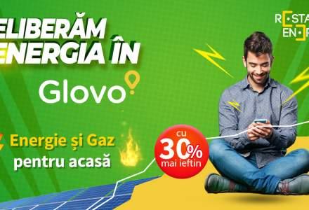 Premieră: Poți cumpăra energie verde și gaze naturale la reducere prin intermediul aplicației Glovo