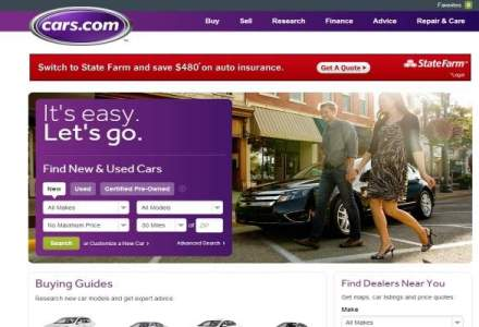 Site-ul de comert auto Cars.com a fost scos la vanzare, pentru 3 mld. dolari