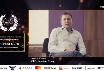 Proiectul Confidex al grupului Impetum, câștigătorul unui premiu special la Gala Wall-Street 15 ani