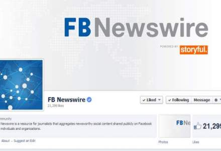 Facebook a lansat FB Newswire pentru jurnalisti