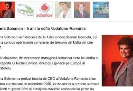 Va mai amintiti de Liliana Solomon, fosta sefa Vodafone? Are un nou job ca director financiar