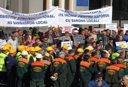 Constanta: sindicalistii anunta un nou protest la care sunt asteptati cateva mii de salariati