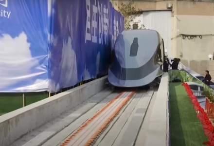 China a prezentat un prototip de tren care merge de aproximativ zece ori mai rapid decât viteza medie a trenurilor CFR