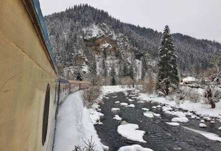 Circulația trenurilor se desfășoară în condiții de iarnă