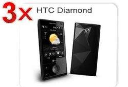 Castiga 3 telefoane HTC Touch Diamond si 100 de abonamente Vodafone Internet pe mobil gratuite pentru 1 an