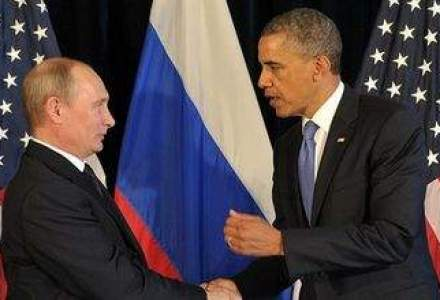 Barack Obama si Vladimir Putin au avut o intalnire privata in Normandia