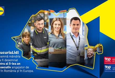 (P) Lidl obține certificarea Top employer și înregistrează cele mai bune performanțe la categoriile leadership și sustenabilitate
