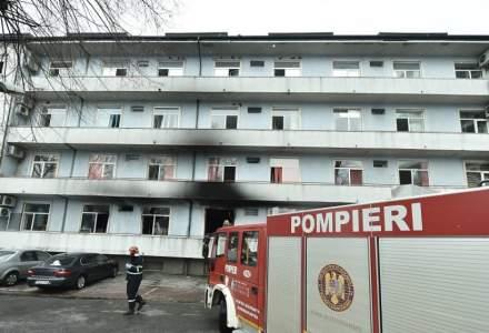 Incendiu la Institutul Matei Balș: Anchetatori: Se pare că au fost două explozii ale unor tuburi de oxigen