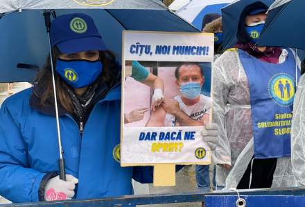 [VIDEO] Sindicaliștii de la Solidaritatea Sanitară protestează din nou în fața Parlamentului