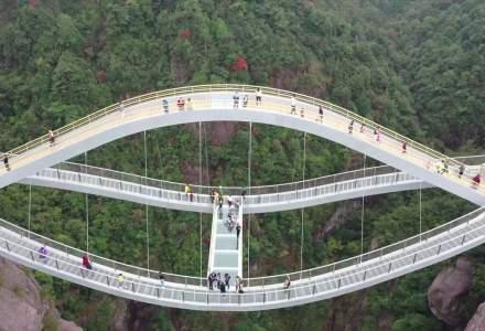 [VIDEO] Cum arată cel mai recent pod din sticlă din China