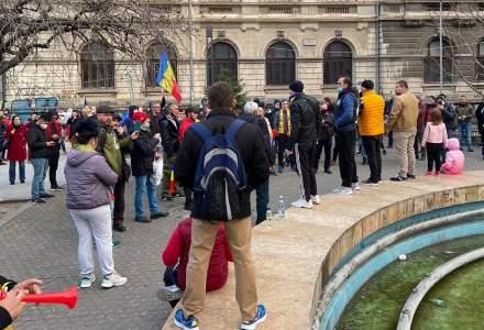Noi proteste în București împotriva restricțiilor COVID-19