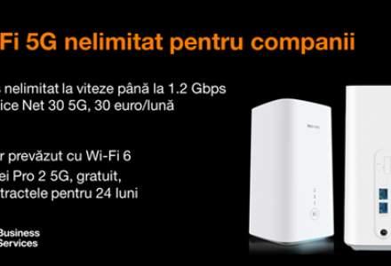 (P) Orange Business Services lansează primul abonament 5G cu router inclus ce permite conexiuni Wi-Fi la viteze 5G pentru companii