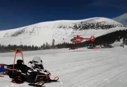 Accident grav pe o pârtie din Alba: O femeie a fost transportată cu un elicopter SMURD