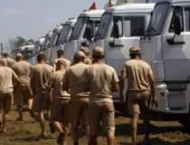 Camioane ale convoiului rus...